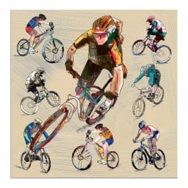 Julia Hook Designs Sport Hobby Off Road Cycling Greeting Card