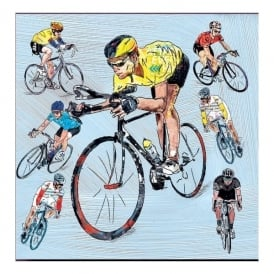 Julia Hook Designs Sport Hobby Race Cyclist Ceramic Coaster Single