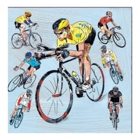 Julia Hook Designs Sport Hobby Race Cyclist Greeting Card