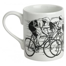 McLaggan Smith Sprint Finish Cycling Large Mug