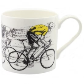 McLaggan Smith Sprint Finish Yellow Jersey Cycling Mug