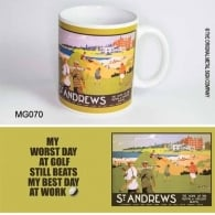 Original Metal Sign Company St Andrews Golf Retro Ceramic Mug
