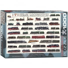 EuroGraphics Steam Locomotives Jigsaw - 1000 Pieces