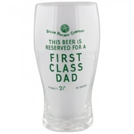 Harvey Makin Steam Railway Beer Glass - First Class Dad