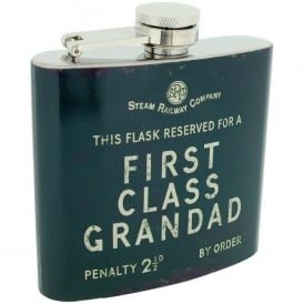 Harvey Makin Steam Railway Hip Flask - First Class Grandad