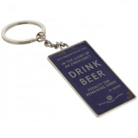 Harvey Makin Steam Railway Keyring - Drink Beer