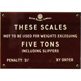 Harvey Makin Steam Railway Metal Sign - These Scales
