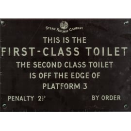 Harvey Makin Steam Railway Metal Sign- Toilet