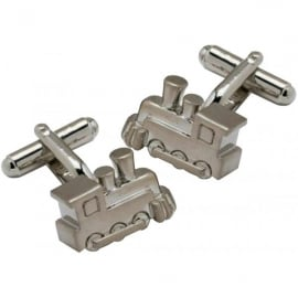 Onyx-Art Steam Train Cufflinks