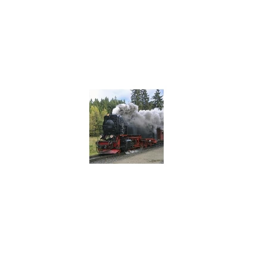 art2glass Steam Train Heavy Smoke Glass Coaster Single in Box