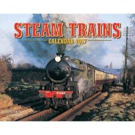 Salmon Art Steam Trains A4 Calendar 2017