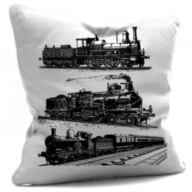 House Of Cushions Steam Trains Filled Cushion