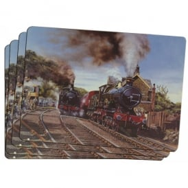 Little Snoring Steam Trains Placemats Set of 4
