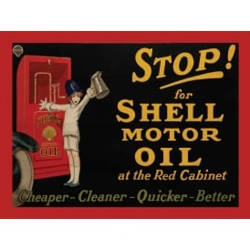Original Metal Sign Company Stop For Shell Tin Sign