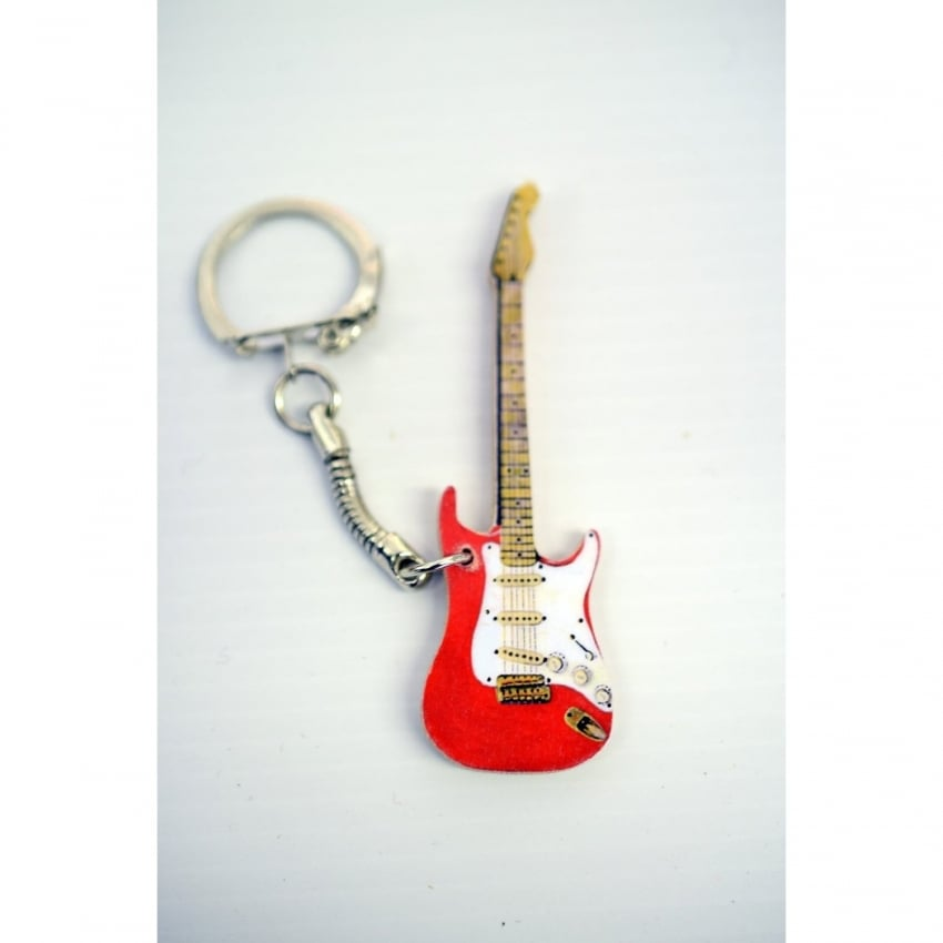Lark Designs Stratocaster Guitar Cut Out Keyring