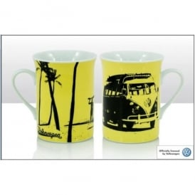 Elgate Surf Silhouette Yellow VW Mug