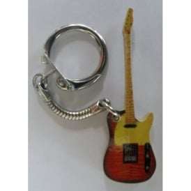 Lark Designs Telecaster Guitar Cut Out Keyring
