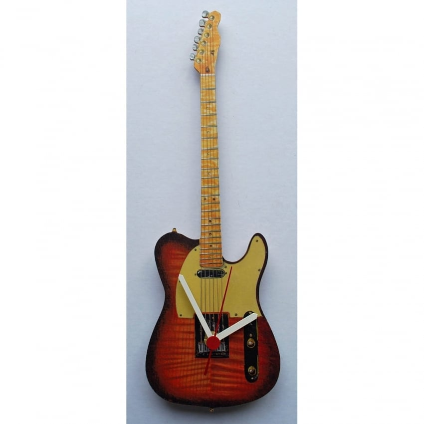 Lark Designs Telecaster Guitar Cut Out Wall Clock