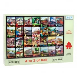 House Of Puzzles The A to Z of Rail Jigsaw - 500 Big Pieces