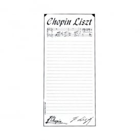 Music Gifts Company The Chopin Liszt Memo Pad