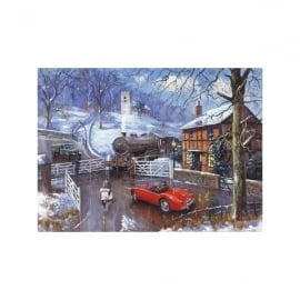 Rothbury Publishing The Railway Crossing Christmas Cards - Pack of 4