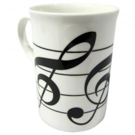 Music Gifts Company Three Treble Clefs Bone China Mug
