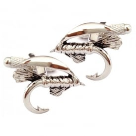 Onyx-Art Tied Fly Cufflinks