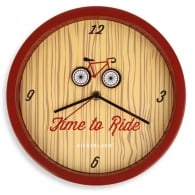 "Kikkerland Time To Ride 10"" Wall Clock"