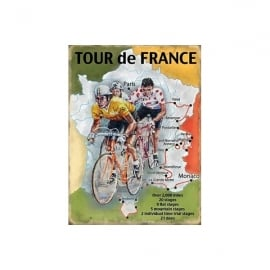Original Metal Sign Company Tour De France Fridge Magnet