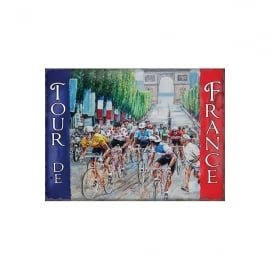 Original Metal Sign Company Tour De France Red and Blue Fridge Magnet