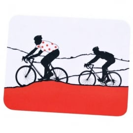 The Art Rooms Tour de France Red Polka Dot Jersey Coaster - Single