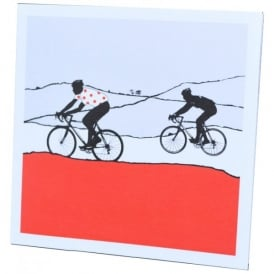 The Art Rooms Tour de France Red Polka Dot Jersey Greeting Card