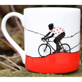 The Art Rooms Tour de France Red Polka Dot Jersey Mug