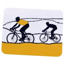 The Art Rooms Tour de France Yellow Jersey Coaster - Single