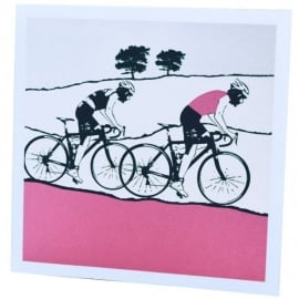 The Art Rooms Tour de Yorkshire Pink Greeting Card