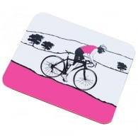 The Art Rooms Tour De Yorkshire Pink Jersey Coaster - Single