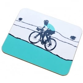 The Art Rooms Tour De Yorkshire Turquoise Jersey Coaster - Single