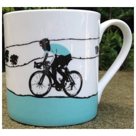 The Art Rooms Tour De Yorkshire Turquoise Jersey Mug