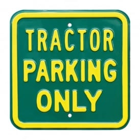 Red Hot Lemon Tractor Parking Only Metal Sign