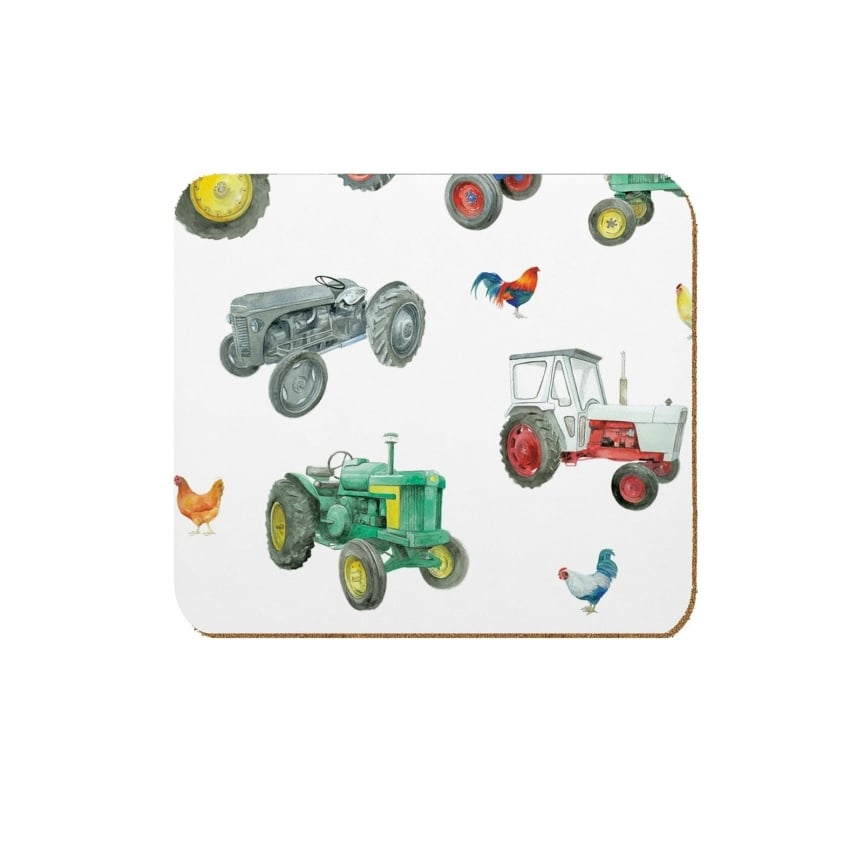 Coleshill Design Tractors Coasters Set of 4 - Ceinwen Campbell