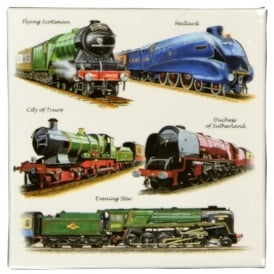 Little Snoring Trains Montage Fridge Magnet