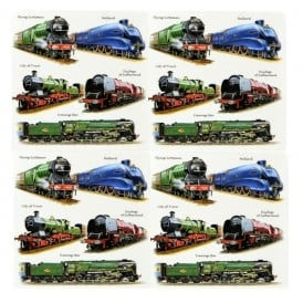 Little Snoring Trains Montage Gift Wrap