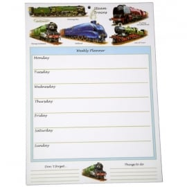 Little Snoring Trains Montage Planner Pad