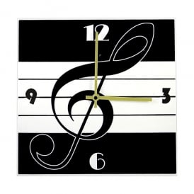 Music Gifts Company Treble Clef Square Wall Clock