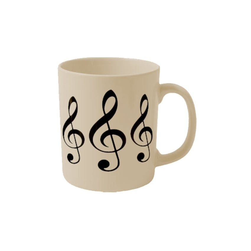 Treble Clefs Earthenware Mug