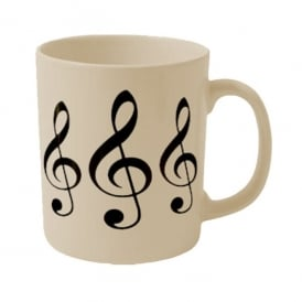 Music Gifts Company Treble Clefs Earthenware Mug