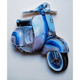 Lark Designs Vespa 150 Sprint Cut Out Jumbo Magnet