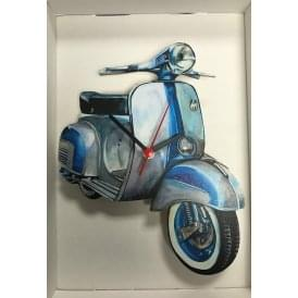Lark Designs Vespa 150 Sprint Cut Out Wall Clock