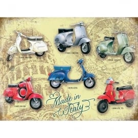 Original Metal Sign Company Vespa Collage Fridge Magnet