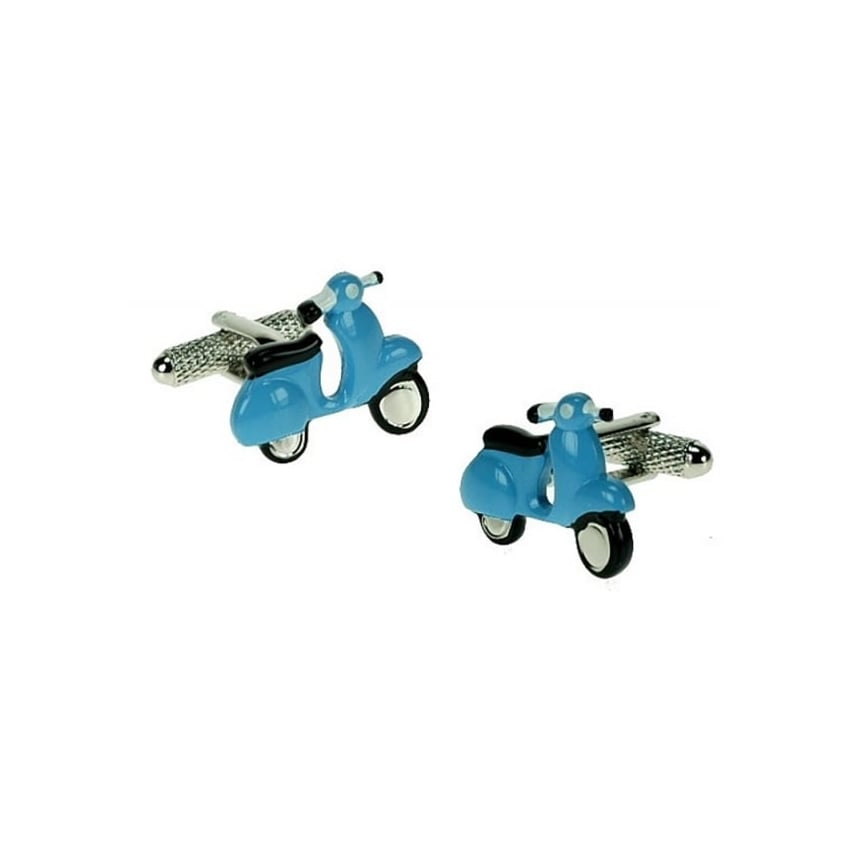 Onyx-Art Vespa Cufflinks - Blue & Black